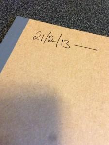 A Muji note-book