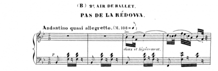 Redowa by Meyerbeer: not a slow mazurka, but good pirouette music