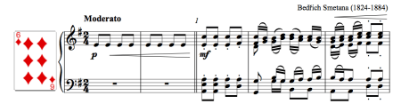 First line of the polka by Smetana