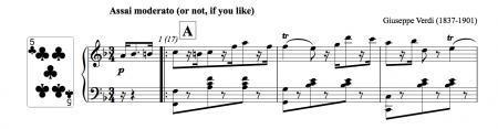 Piano score of the polka mazurka by Verdi
