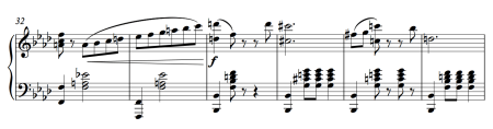 Esmeralda male variation music (clip of the piano score)