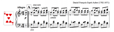 Music for allegro in six eight (6/8)