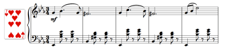Piano score for the Talisman pas de deux coda (waltz)
