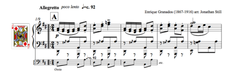 Screen-grab of the Marcha Militar by Granados. Free piano music for ballet class