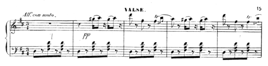 Extract from the Waltz in Act I of Giselle, showing the Scotch snap