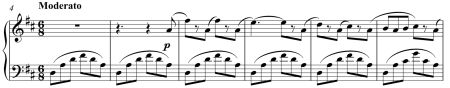 Fragment of Odalisques from Le Corsaire (sheet music)