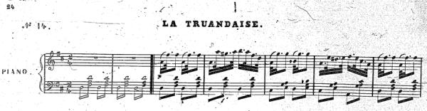 """The Scotch snap in Pugni's La Truandaise from his ballet """"La Esmeralda"""""""