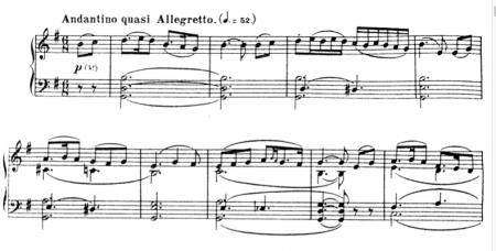 Part of Rimsky-Korsakov's Scheherezade (musical score)
