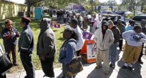 voting lines in FLA