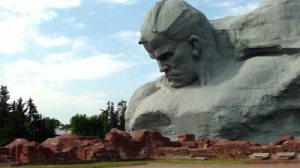 stock-footage-brest-belarus-august-the-courage-monument-at-the-brest-fortress-on-august-in-brest