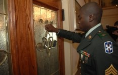 Soldier Knocking On Door