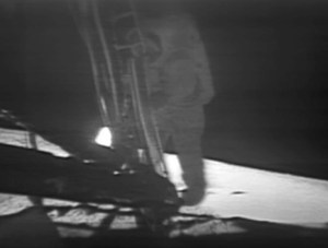 Neil Armstrong Stepping down from the Eagle