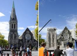 Christchurch Cathedral - before and after