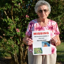 83-year-old Gloria Todd, of Catonsville, holds a missing flyer she created for her longtime pet turtle, Moses.