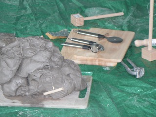 Clay and tools