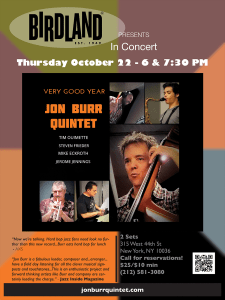 Very Good Year CD Release Event - Jon Burr Quintet @  |  |