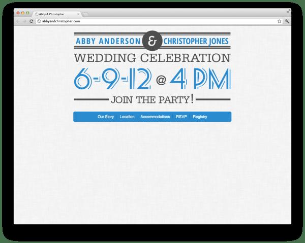 abbyandchristopher.com homepage