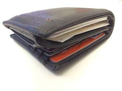 An overstuffed wallet