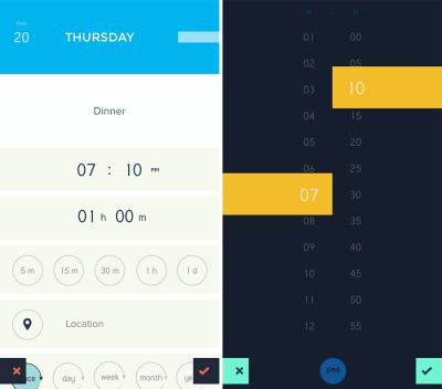 Screenshots of Peek Calendar