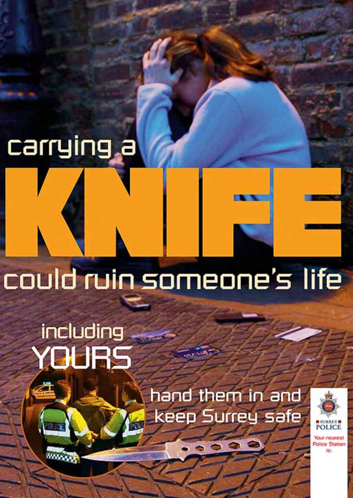 Poster for knife crime campaign