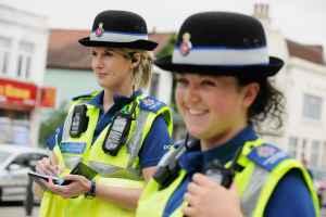 Surrey Police PCSOs on patrol