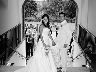 Gorgeous wedding Couple at Farnham Castle