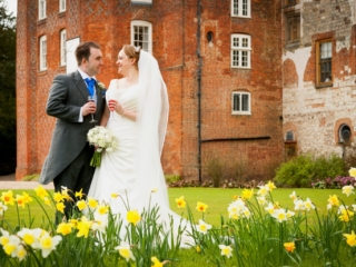 Spring wedding at Farnham Castle