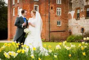 Spring wedding at Farnham Castle