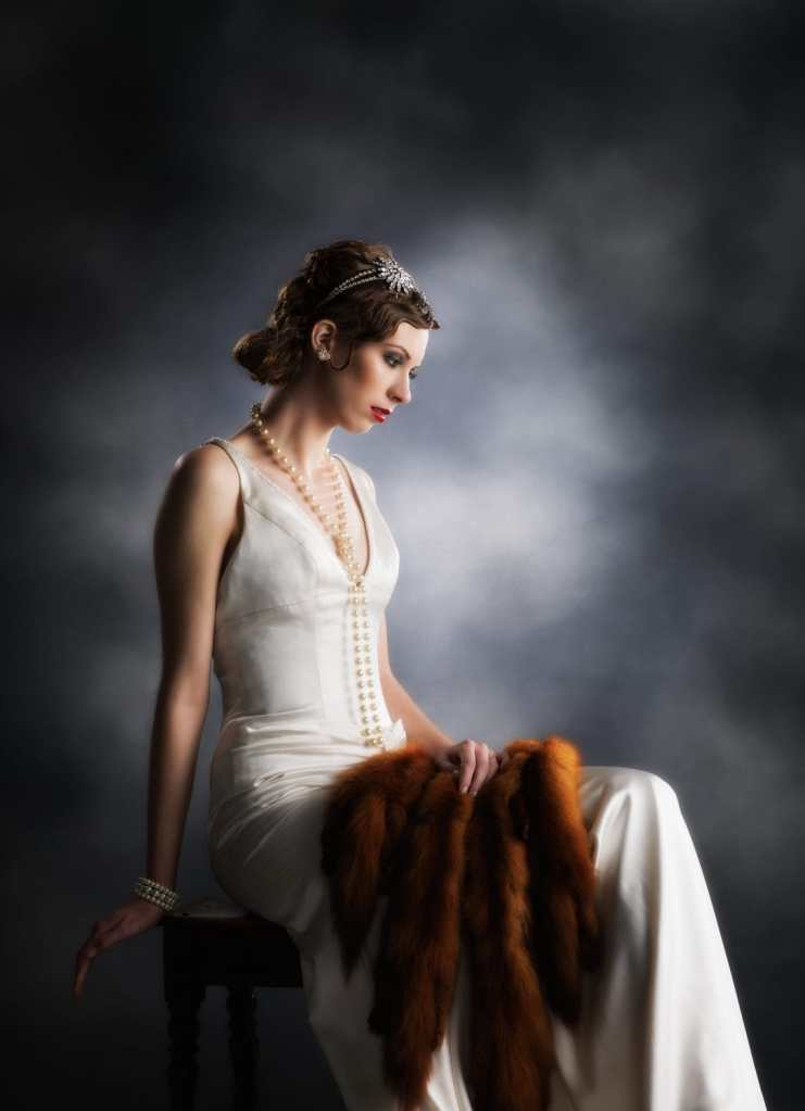 1920s Muriel Finlay Styled Shoot Bride with Furs