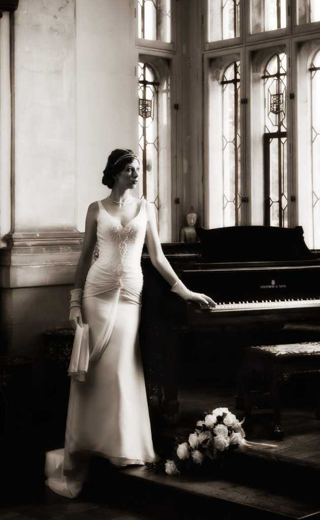 Great Gatsby Inspired shoot Bride by Piano