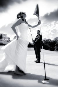 Couple on the green at Wentworth Golf Club