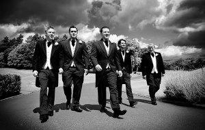 Reservoir Dogs style groomsmen