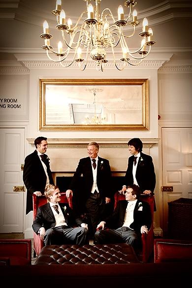 Groom and Groomsmen, civil ceremony, warbrook house wedding