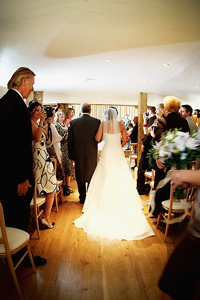 Here Comes The Bride, The Barn at Bentley Court, Wedding