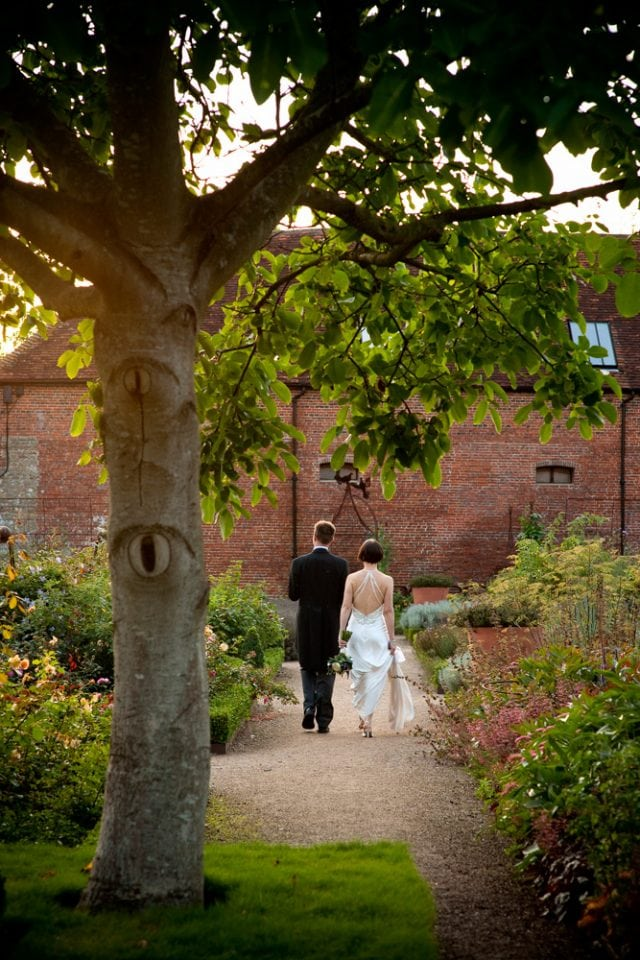 Evening wedding photography at Cowdray Park Gardens