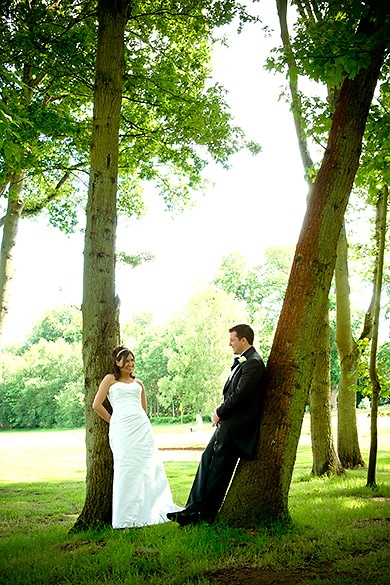 Wedding in the countryside, virginia water, london