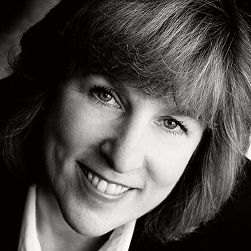 Close crop black and white portraits of a professional lady