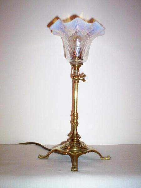 English arts and crafts adjustable table lamp, circa 1910