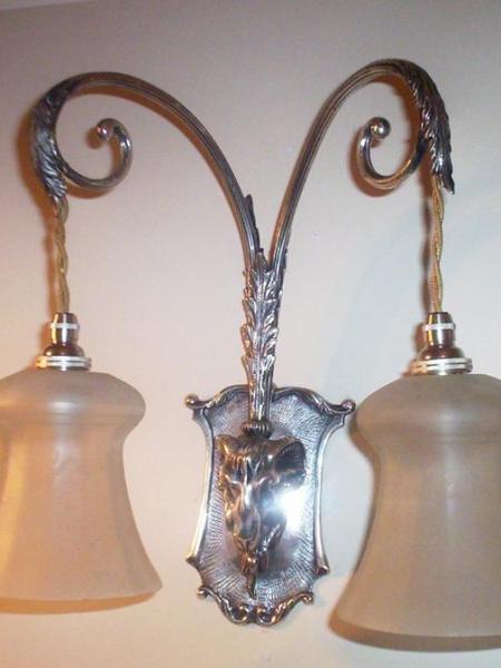 English neo-classical twin-arm wall light, circa 1920-30
