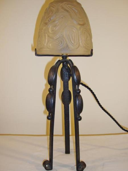 "French art deco ""mushroom"" table lamp, circa 1925"