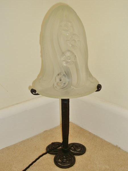 "Good quality French art deco ""mushroom"" table lamp, circa 1930"