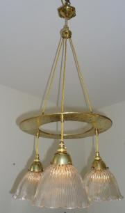 Holophane Company arts & crafts hanging light, circa 1900