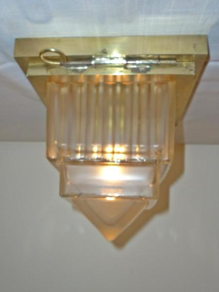 French art deco flush ceiling light, circa 1930