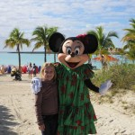 Meeting Minnie Mouse at Castaway Cay