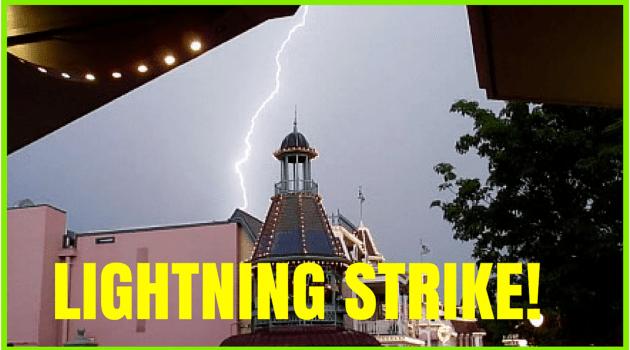 Lightning Storm at the Magic Kingdom!