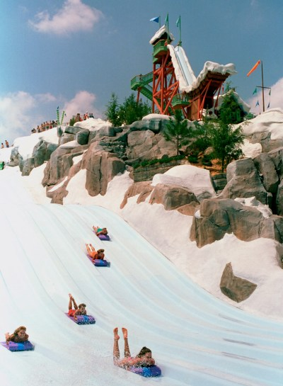Kristoff & Olaf Host Frozen Games At Disney's Blizzard Beach Water Park