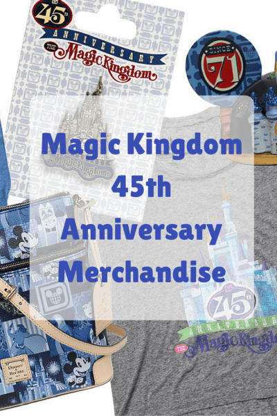 See the new Magic Kingdom 45th Anniversary Products Arriving in Fall 2016
