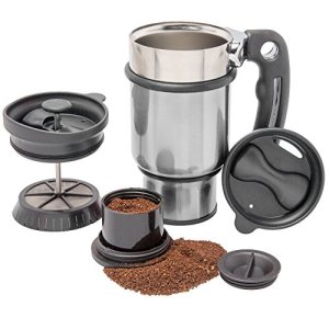 French-Press-Travel-Mug-with-Handle-Storage-Container-for-Extra-Coffee-and-2-Spill-Proof-Lids-14-oz-Silver-0