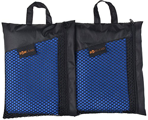 Sunland-Microfiber-Sports-Towels-2-Pack-Dark-Blue-16inch-X-32inch-0