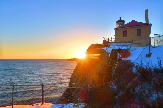 Split Rock Lighthouse at Sunset
